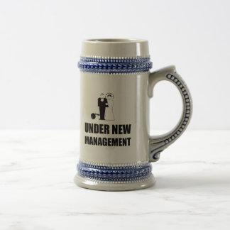Under New Management Wedding Ball Chain Beer Stein