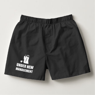 Under New Management Wedding Ball Chain Boxers