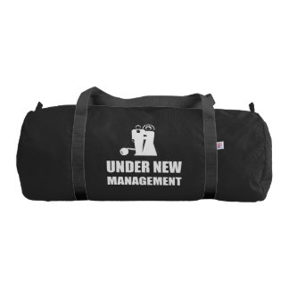 Under New Management Wedding Ball Chain Gym Bag
