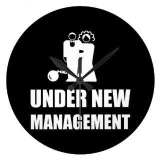 Under New Management Wedding Ball Chain Large Clock