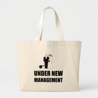 Under New Management Wedding Ball Chain Large Tote Bag