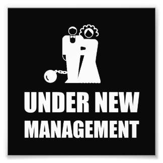 Under New Management Wedding Ball Chain Photo