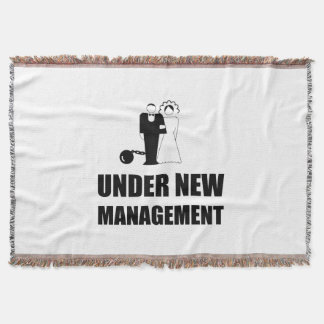 Under New Management Wedding Ball Chain Throw Blanket