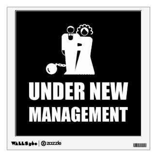 Under New Management Wedding Ball Chain Wall Decal
