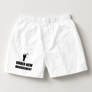 Under New Management Wedding Boxers