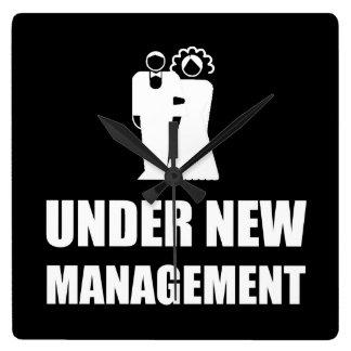Under New Management Wedding Clocks