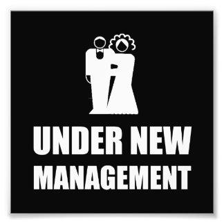 Under New Management Wedding Photographic Print