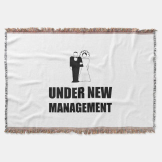 Under New Management Wedding Throw