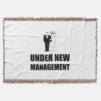 Under New Management Wedding Throw Blanket