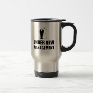 Under New Management Wedding Travel Mug