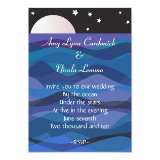 Under Stars Wedding Invitation Beach Destination