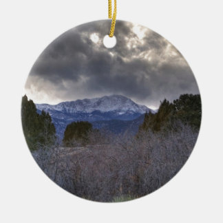 Under Stormy Sky Ceramic Ornament