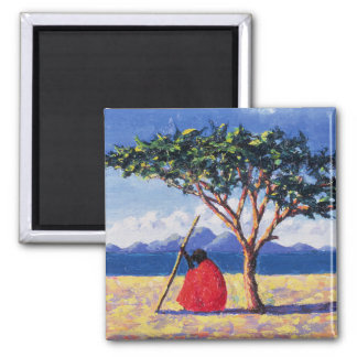 Under the Acacia Tree 1991 Square Magnet