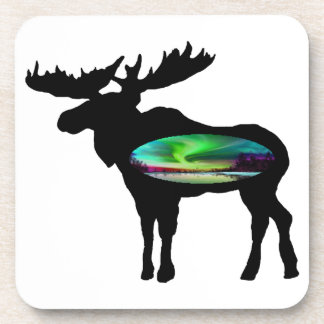 UNDER THE AURORA BEVERAGE COASTERS