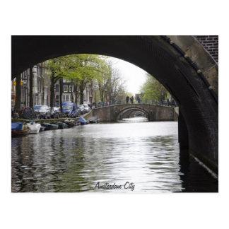 Under The Bridge of Amsterdam Postcard