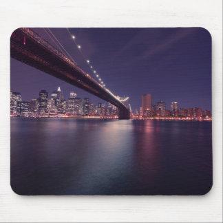 Under the Brooklyn Bridge New York Skyline Mouse Pad