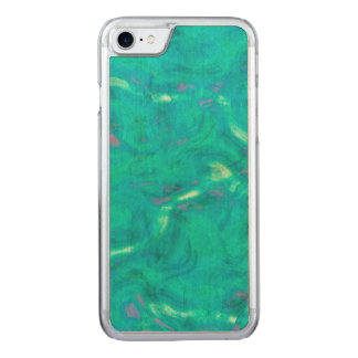 Under the Caribbean Sea Abstract Art Carved iPhone 8/7 Case