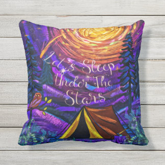 Under The Glorious STARS Throw Pillow