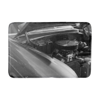 Under The Hood Grayscale Bath Mat