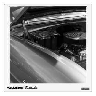 Under The Hood Grayscale Wall Decal
