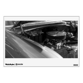 Under The Hood Grayscale Wall Sticker