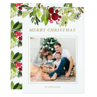 Under the Mistletoe Christmas Photo Card