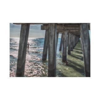 Under the Naples Pier Canvas Print