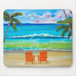 Under The Palm Trees Mouse Pad