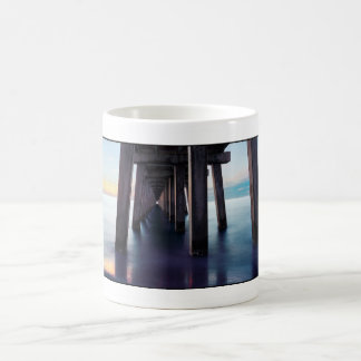 Under the Pier at Sunset- Panoramic Coffee Mug