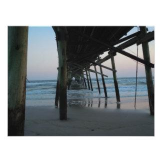 Under the Pier - Oak Island, NC Photographic Print