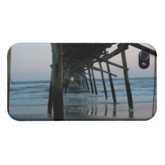 Under the Pier - Oak Island, North Carolina iPhone 4 Cover
