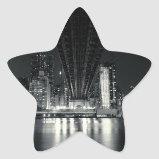 Under the QueensBoro Bridge - NYC Star Sticker