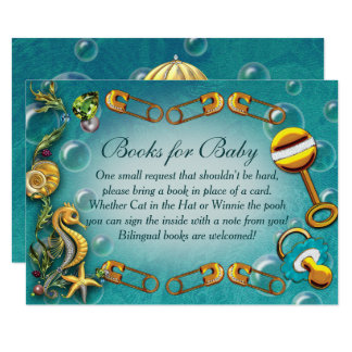 Under the Sea Baby Shower Insert Cards