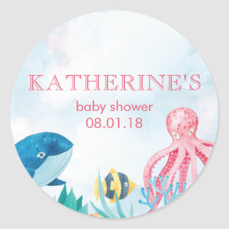 Under the Sea Baby Shower Stickers