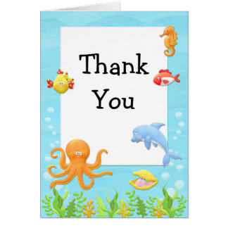 Under the Sea Baby Shower Thank You Card