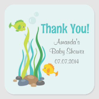 Under The Sea Baby Shower Thank You Stickers