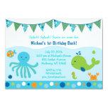 Under the Sea Birthday Invitations