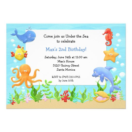 Under The Sea Party Invitations correctly perfect ideas for your invitation layout