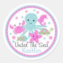 Under The Sea Birthday Sticker