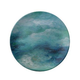 Under the Sea Blue Dinnerware Plate Porcelain Plate