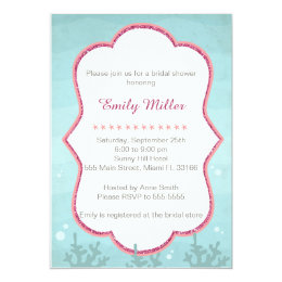 Under the sea bridal shower invitations announcements zazzle ca under the sea bridal shower invitation filmwisefo Images