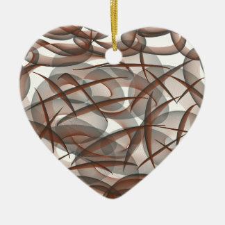 Under the sea ceramic heart ornament