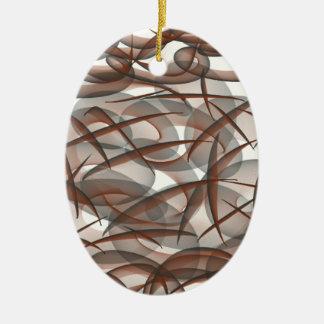 Under the sea ceramic oval ornament