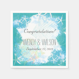 Under the Sea Custom Wedding Disposable Napkins