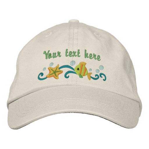 Under the Sea - customize Embroidered Hat