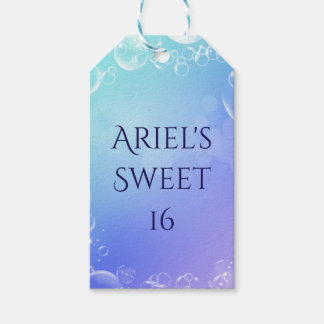 Under the Sea Enchanted Bubbles Custom Party Favor Gift Tags