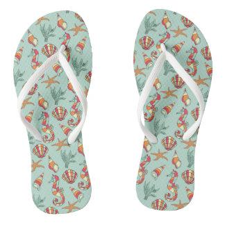 Under The Sea Flip Flops