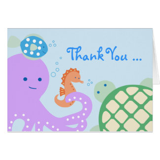 Under the Sea Friends Thank You Card