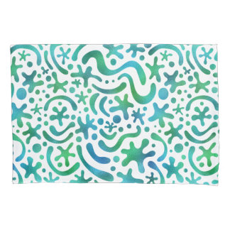 Under the Sea Funky Blob and Squiggle Pillow Pillowcase