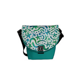 Under the Sea Funky Blob & Squiggle Pattern Bag Courier Bag